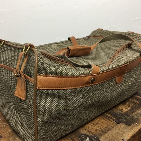 110fa727d7 Hartmann Other - Vintage Hartmann Mens Canvas Leather Duffle Bag